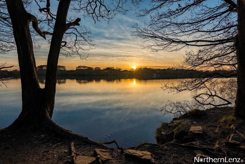 Stunning sunset at Lower Rivington Reservoir, Lancashire  Image Ref: AS06
