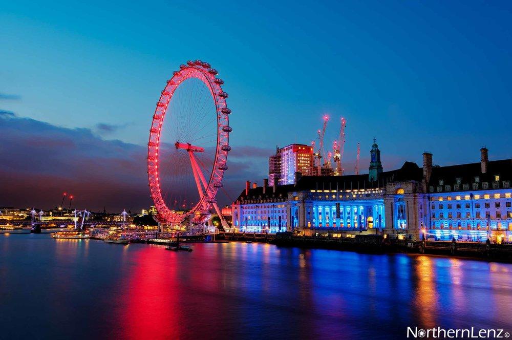 London Eye at twilight  Image Ref: UA04