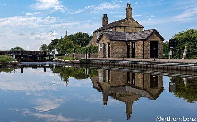 Reflections at Top Lock at Wheelton, Lancashire