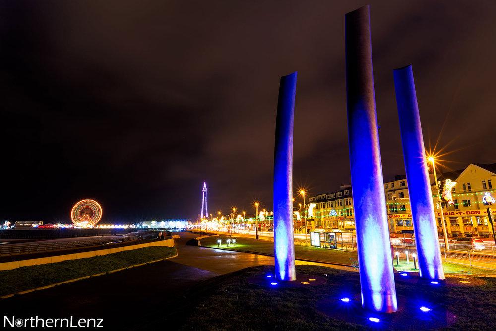 Blackpool by night  Image Ref: UA05