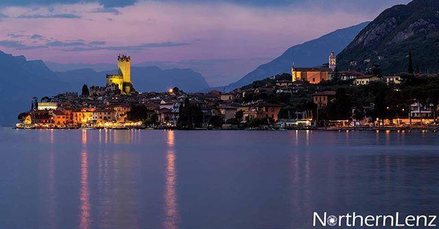 View of Malcesine, Lake Garda at dusk