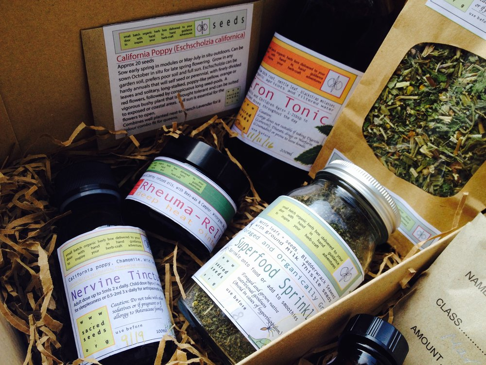 sacred seeds monthly subscription box
