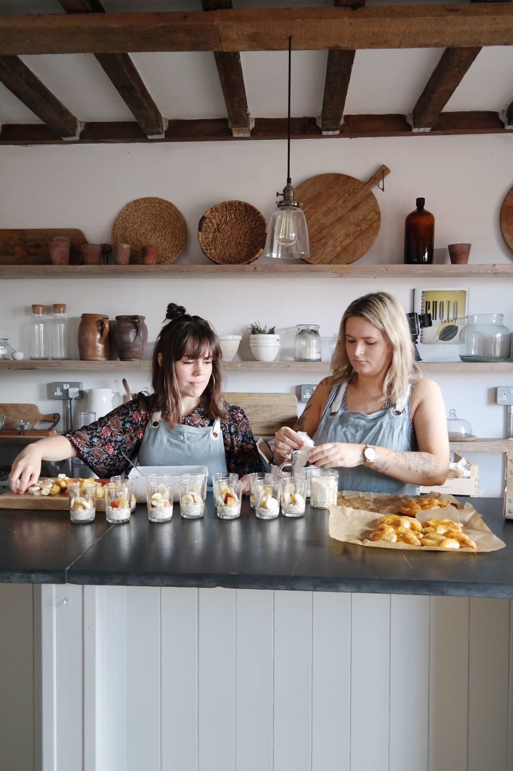 Gabriella and Molly of Planted cooking up a storm