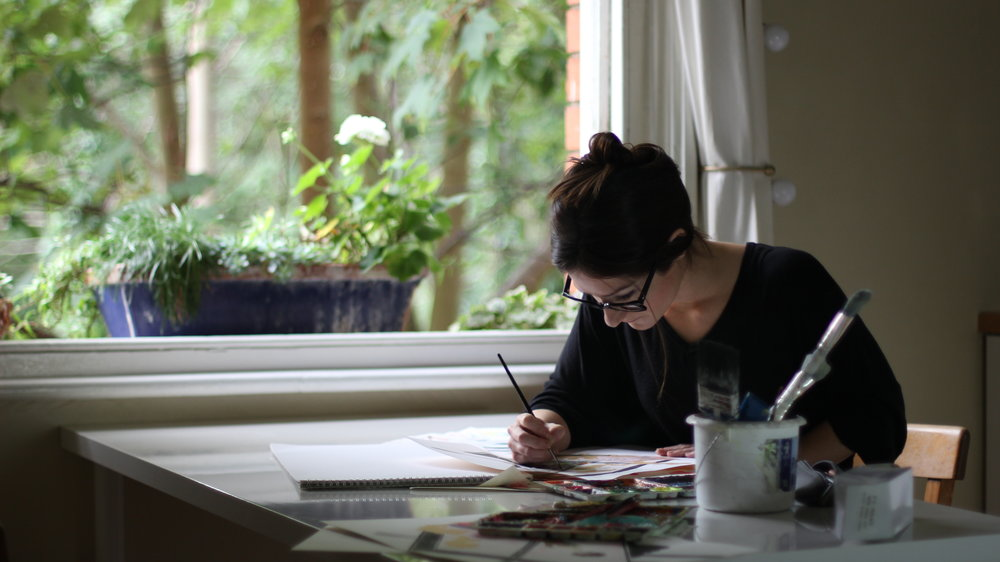 Emily Catherine in her studio