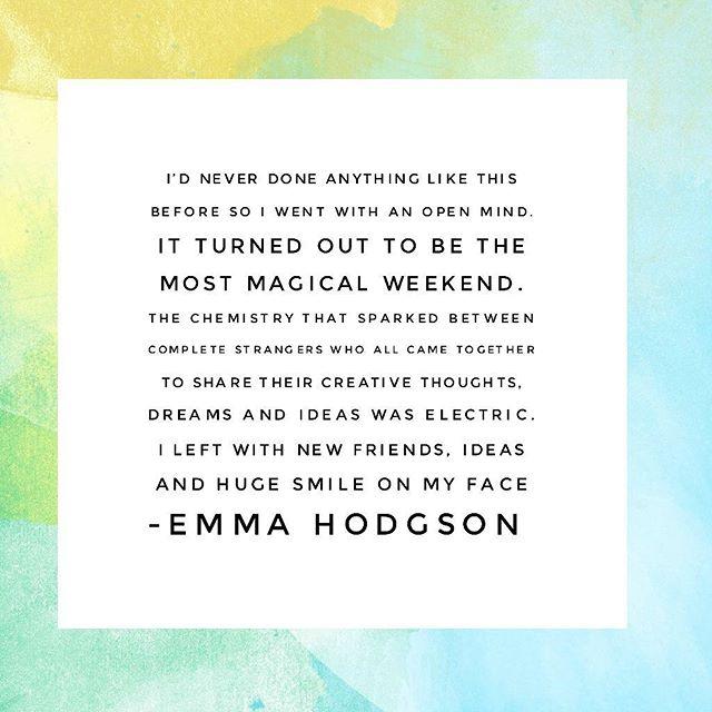 testimonial from Emma hodgson attendee of wwcweekendBristol