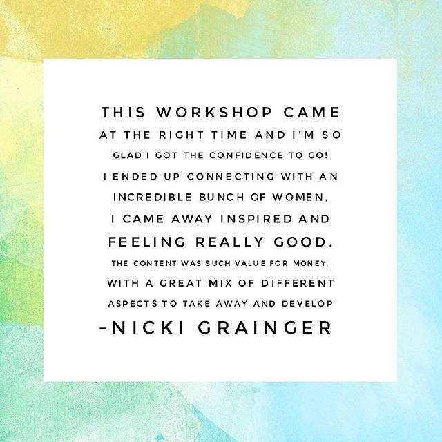 nicki grainger wwcweekend testimonial