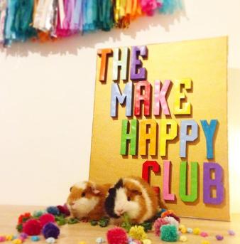 ellbie co make happy club sign