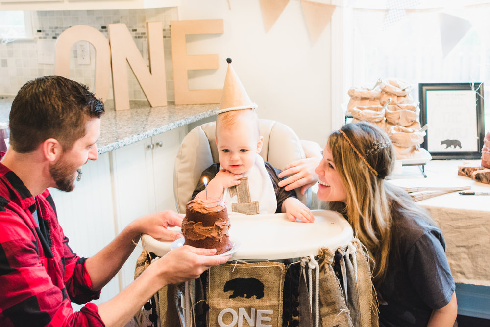 Beckett's Woodland ONEderland Birthday Party -