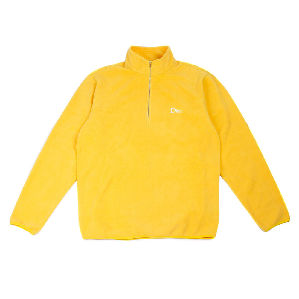 Dime Micro Fleece Half Zip Yellow