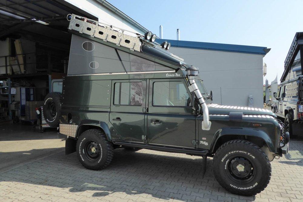 Ex-Tec Defender dunkelgrünmetallic Hard-Tent grau
