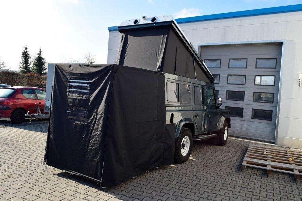 Ex-Tec Defender dunkelgrünmetallic View-Tent & Heckzelt plus schwarz