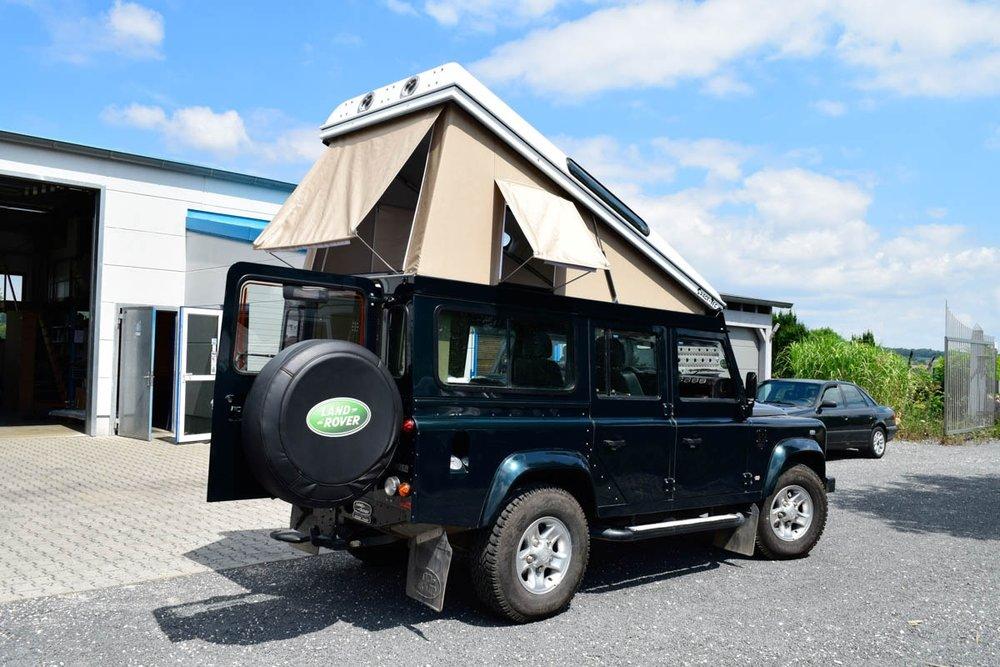 Ex-Tec Defender dunkelgrünmetallic View-Tent sand