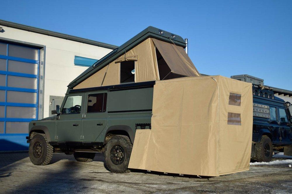 Ex-Tec Defender grün View-Tent & Heckzelt plus sand