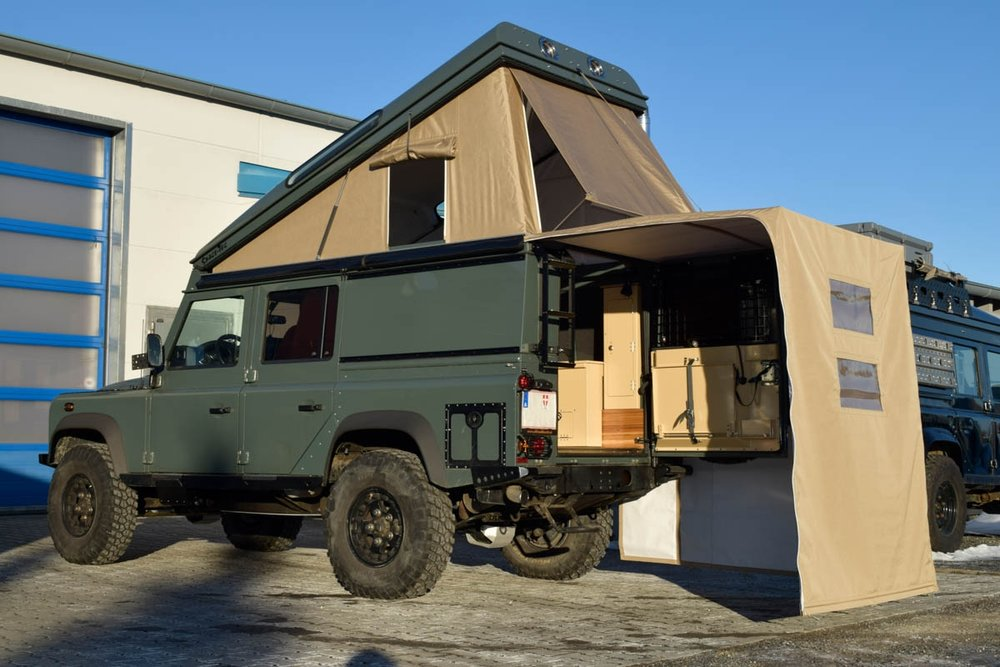 Ex-Tec Defender grün View-Tent & Heckzelt plus sand offen