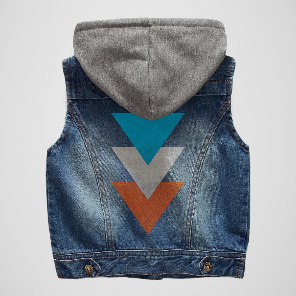 Triangles Denim Vest -  $28.00