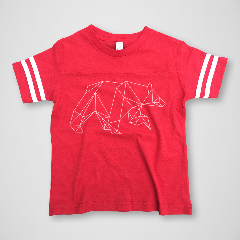 Geometric Bear Football Tee -  $15.00