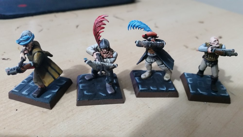 Meet the crossbowmen! White, Red, Blue & Baldie! 50pts x 4