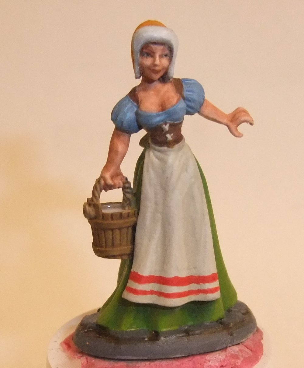 I plan on using her as a generic townsfolk in my D&D / Pathfinder games.