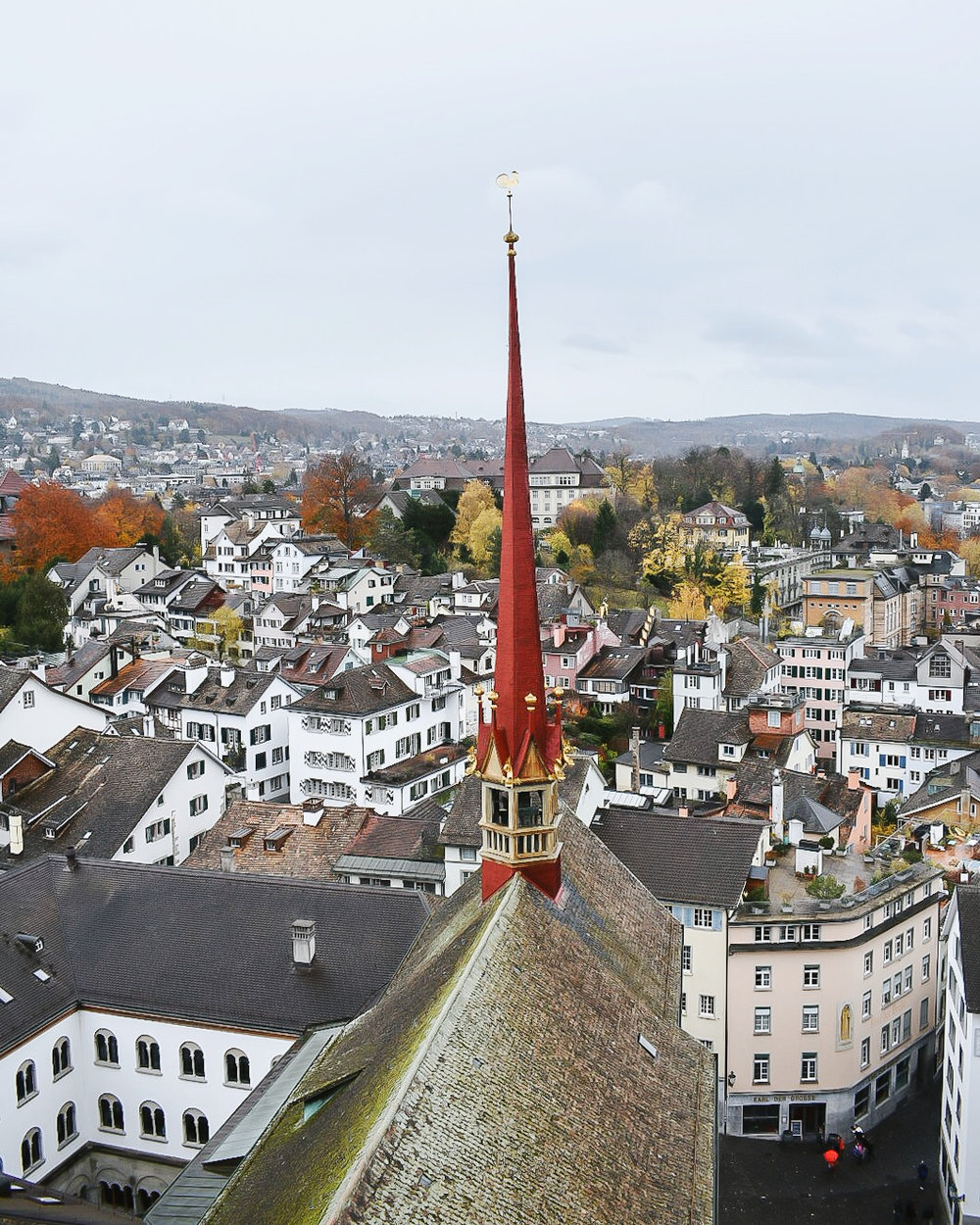 The view from Grossmünster
