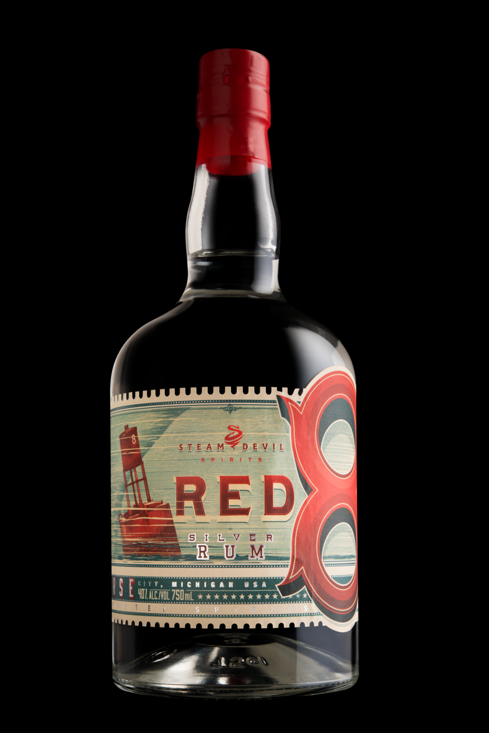 Red 8 Silver Rum - LARA Info. - ADA No.141Code #15586750ml Bar Top Bottle80 Proof