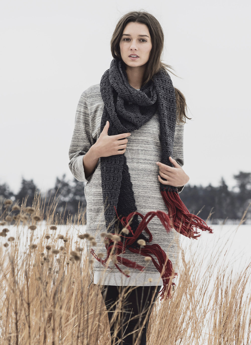Blue Sky Fibers <strong>Silver Bay Scarf Pattern<br>$9.00</strong>