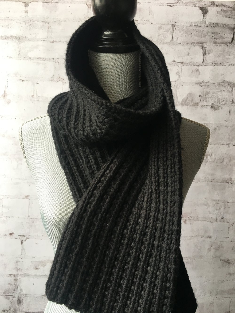 Deep River Scarf <strong>Free Pattern<br>.</strong>