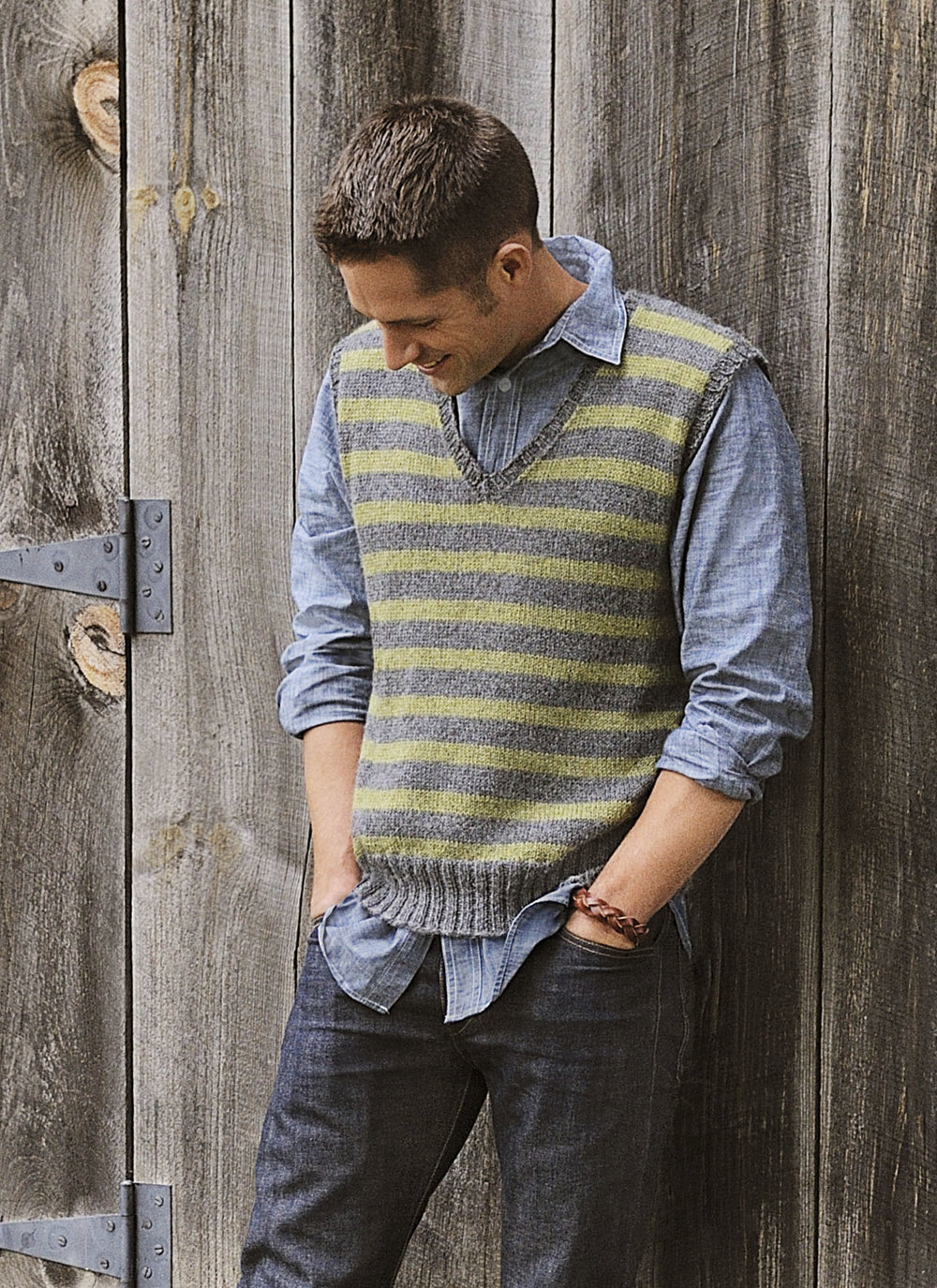 <strong>Men's Striped Vest Pattern</strong><br>.<br>.