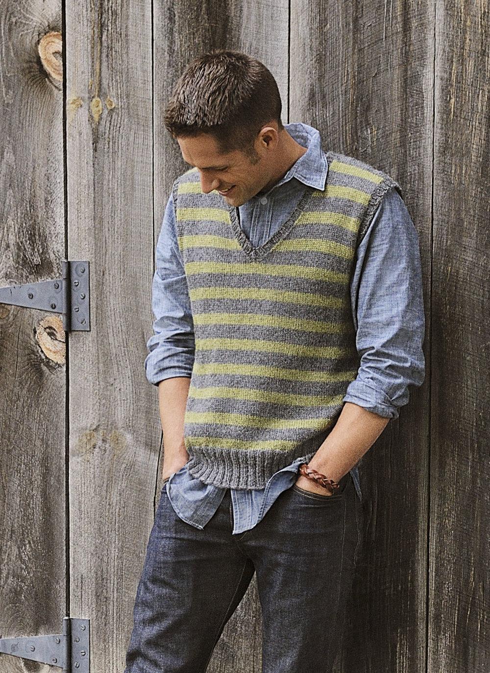 <strong>Men's Striped Vest Pattern</strong><br>.<br>.