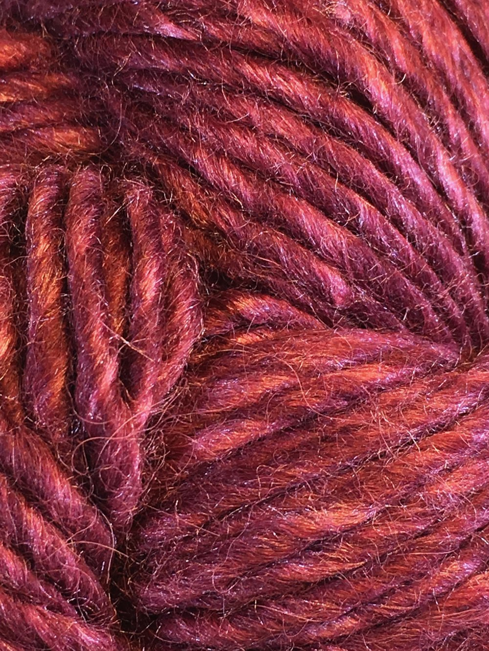 Juniper Moon Farm Moonshine Chunky<br>Baby alpaca, wool and silk<br><strong>Mahogany</strong><br>.