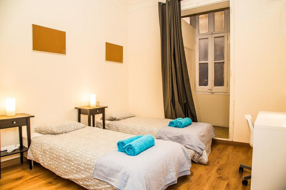 Bedroom, student apartment Barcelona
