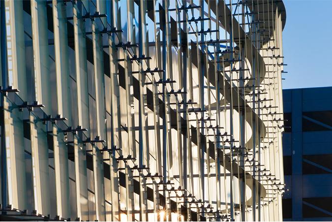 Detail of Glass Facade of Award Winning Modern Building