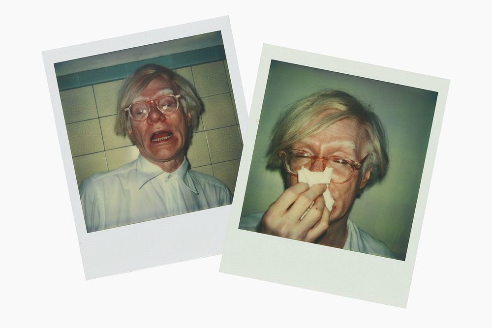 Andy Warhol, Andy Sneezing, 1978, Polaroid SX-70 / Andy Warhol Artwork © The Andy Warhol Foundation for the Visual Arts, Inc. / Artists Rights Society