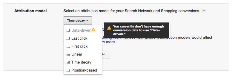 Data Driven Attribution Model in Google AdWords