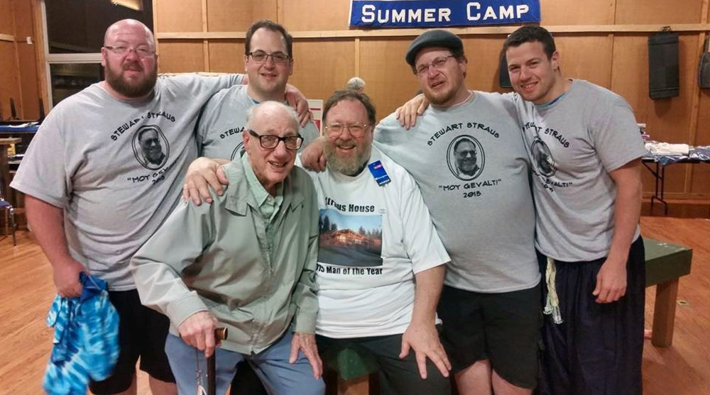 """My father, sons, and I at the Dining Hall project completed for B'nai B'rith Summer Camp where I was honored to receive the """"man of the year"""" designation."""