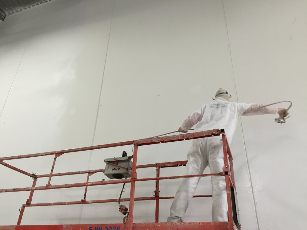 Painters Inc industrial interior wall painting