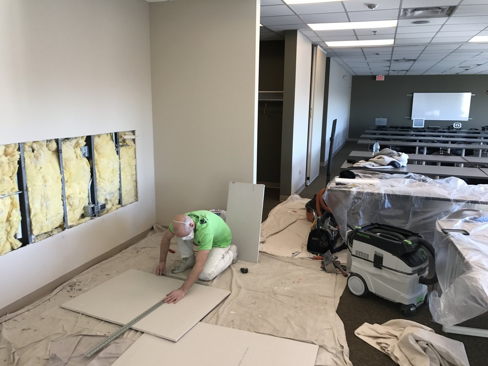 Painters Inc. painting interior of Chicagoland retail location