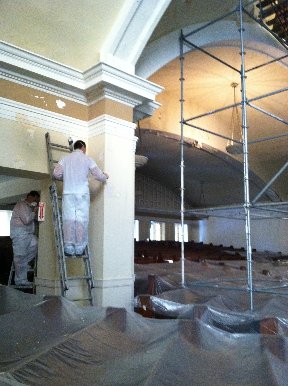 Painters Inc. Chicagoland church paint renovation