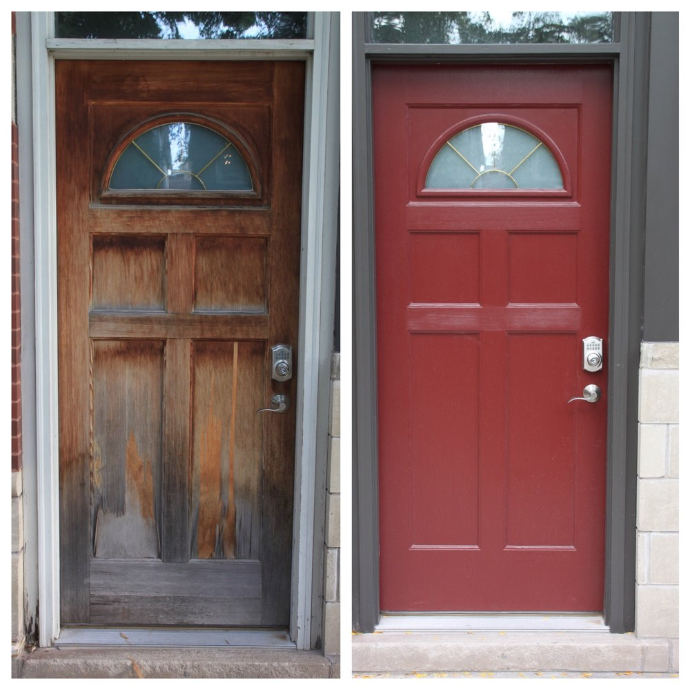 Painters Inc. Chicago best exterior door painting