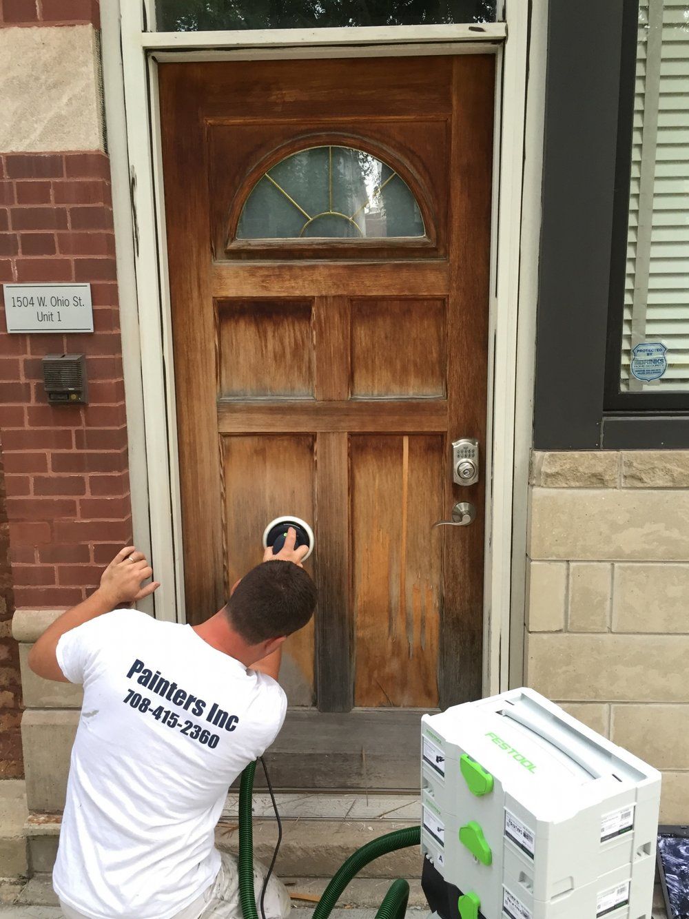 Painters Inc. Chicago best exterior dustless Festool sanding