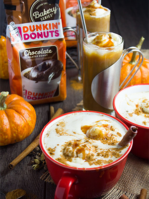 Chocolate Caramel Pumpkin Spice Coffee by Two Purple Figs, as part of the 2016 Dunkin' Donuts Bakery Series campaign