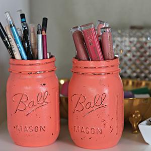 DIY Antiqued Mason Jars, by Ashley Brooke Nicholas