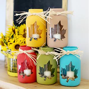 Fall Mason Jar Craft, by Sugar Bee Crafts