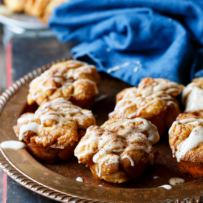 Eggnog Monkey Bread Muffins byShared Appetite