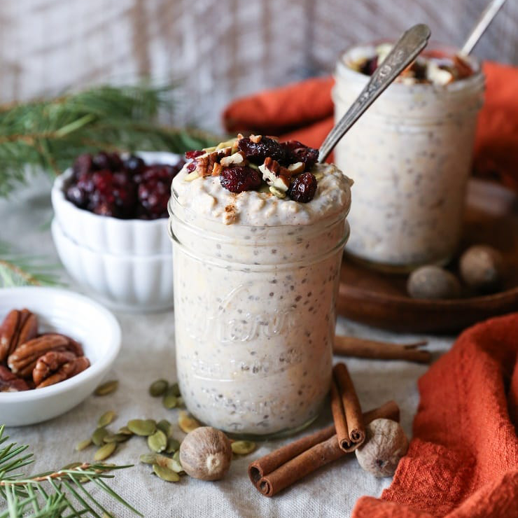Eggnog Overnight Oats by The Roasted Root