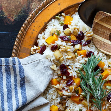 Roasted Butternut Squash and Cranberry Rice Pilaf by Shared Appetite