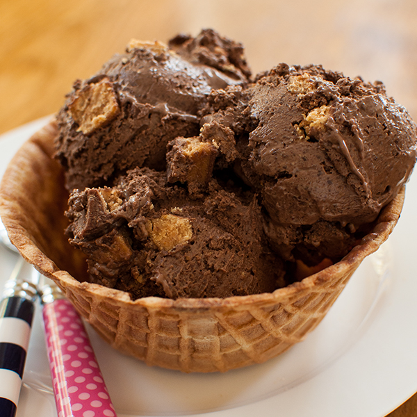 Peanut Butter Chocolate Chip Ice Cream, by Living Lou