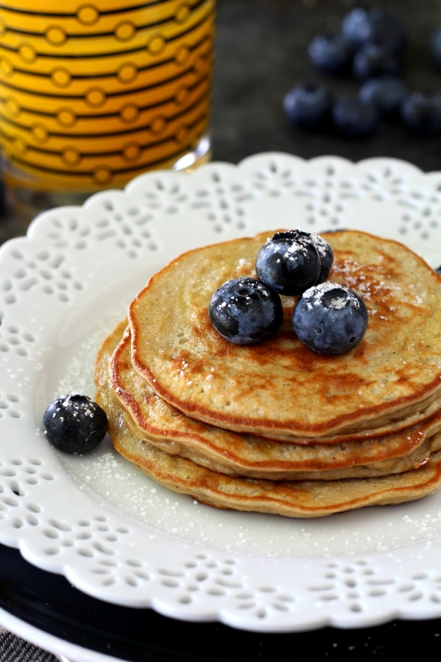 Protein Flourless Pancakes by Kim's Cravings