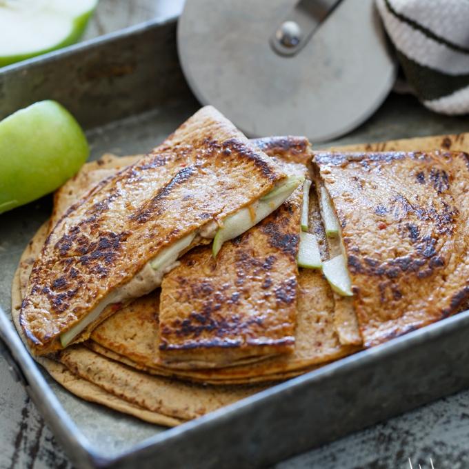 Caramel Apple Cheesecake Quesadillas