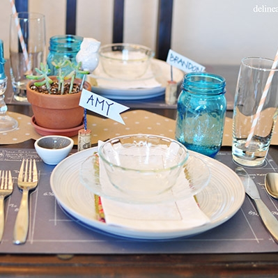 Thanksgiving Table Settingby Delineate Your Dwelling