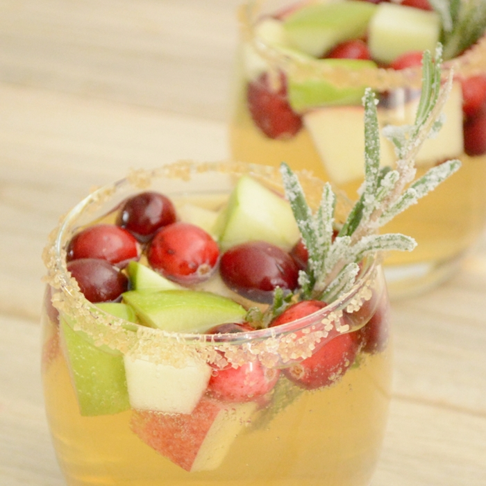 Apple Cider and Cranberry Sangria by Cooking and Beer